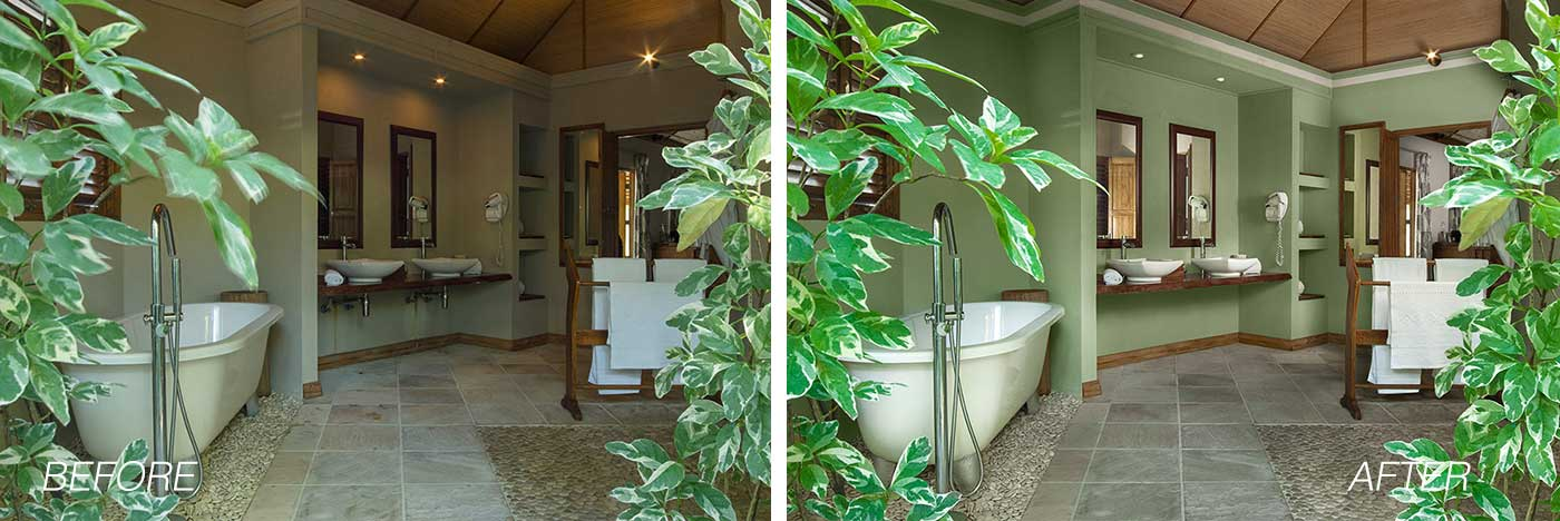 outdoor bathroom before-after example