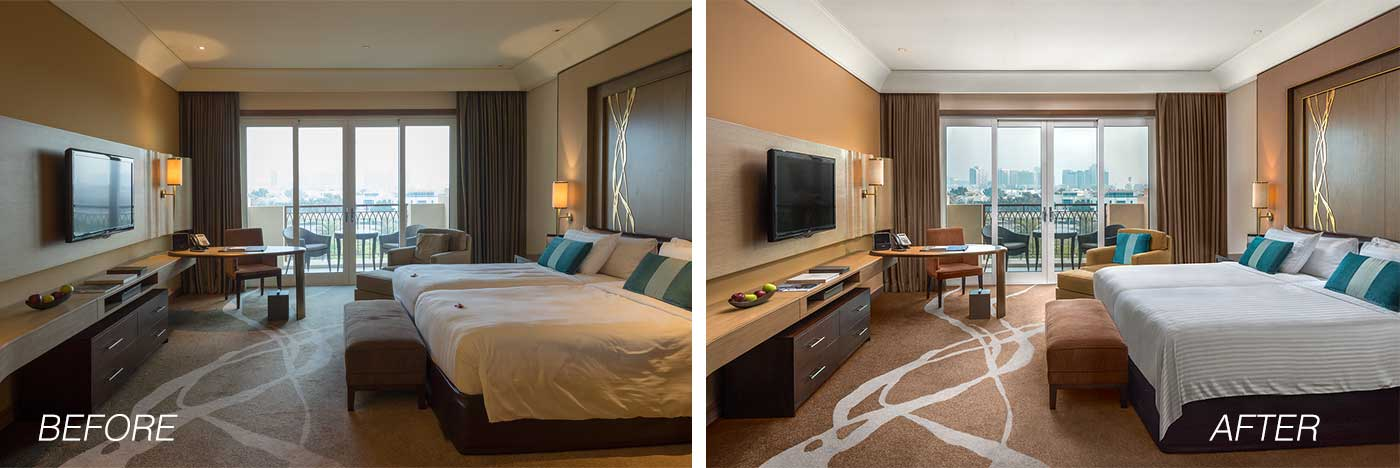 hotelroom before after example