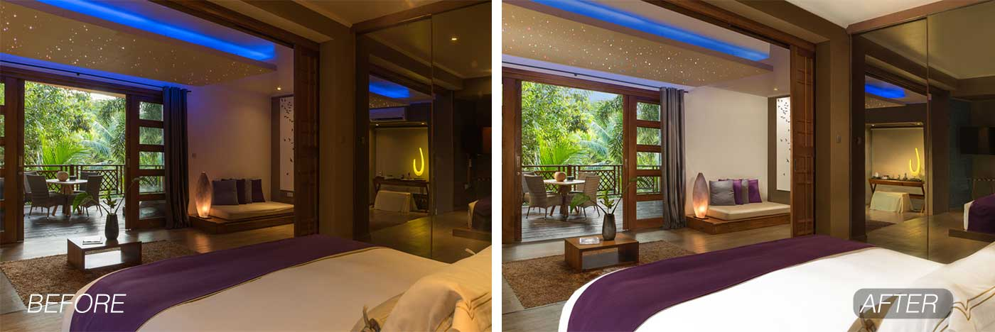 resort room before after example